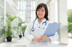 asian medical female student