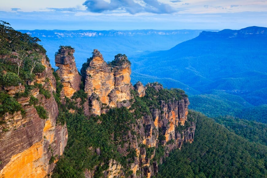 The Three Sisters From Echo Point Blue Mountains National Park NSW Australia ** Note: Shallow depth of field